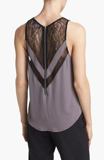 Alternate Image 2  - ASTR Lace Inset Tank