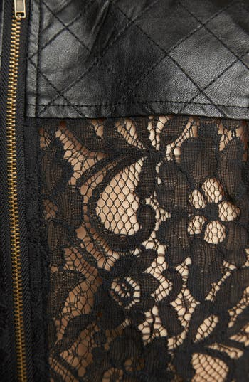Alternate Image 3  - ASTR Faux Leather Crop Top