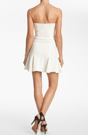 Alternate Image 2  - Devlin Strapless Pleat Skirt Dress