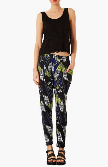 Alternate Image 3  - Topshop Chevron Print Tapered Trousers