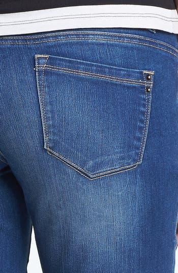 Alternate Image 3  - Jolt Destroyed Crop Skinny Jeans (Medium) (Juniors)