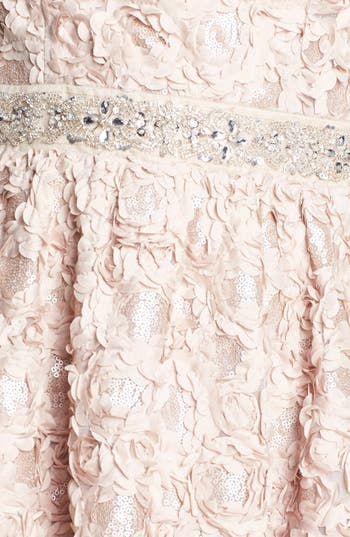 Alternate Image 3  - As U Wish Embellished Rosette Strapless Dress (Juniors) (Online Only)