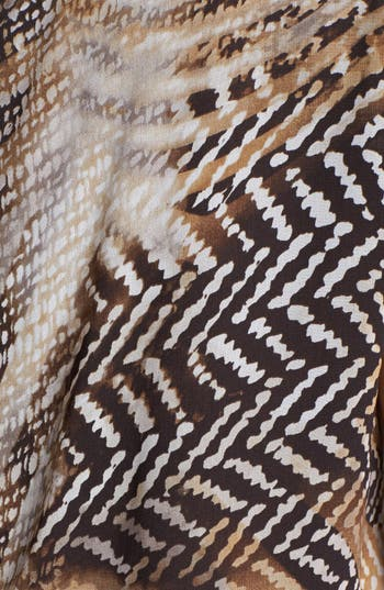 Alternate Image 3  - Vince Camuto Boatneck Herringbone Print Blouse ( Petite)