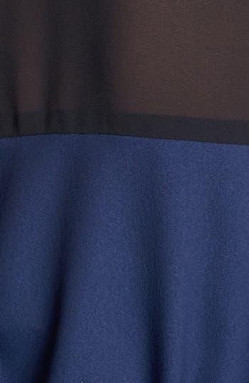 Alternate Image 3  - DKNYC Chiffon Yoke Roll Sleeve Shirtdress
