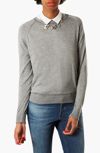Alternate Image 1 Selected - Topshop Marled Sweater