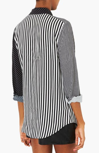Alternate Image 2  - Topshop Mixed Print Shirt