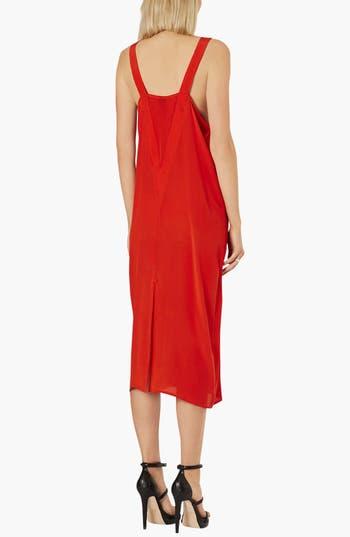 Alternate Image 2  - Topshop Boutique Boxy Silk Slip Dress