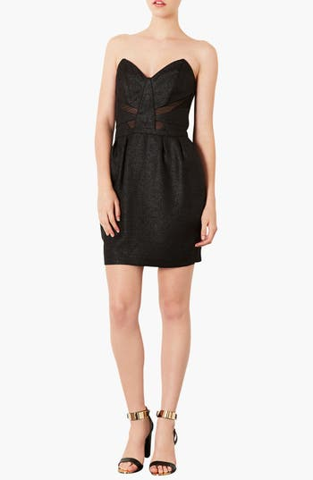 Alternate Image 1 Selected - Topshop Mesh Inset Tulip Dress