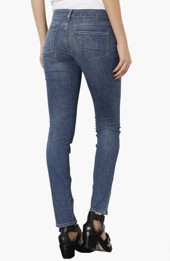 Alternate Image 2  - Topshop Moto 'Baxter' Skinny Jeans (Mid Stone) (Regular, Short & Long)