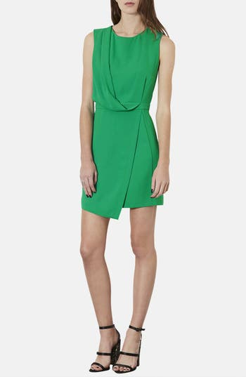 Main Image - Topshop Drape Front Asymmetrical Hem Dress