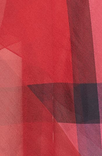 Alternate Image 3  - Burberry Check Print Silk Chiffon Scarf