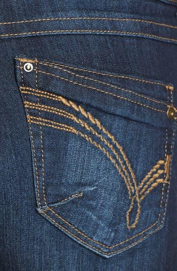 Alternate Image 3  - Jolt Embroidered Pockets Denim Cutoffs (Medium) (Juniors) (Online Only)