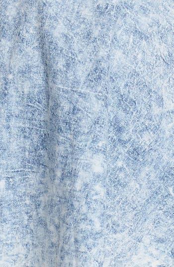 Alternate Image 3  - Mimi Chica Acid Wash Chambray Skirt (Juniors)