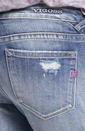 Alternate Image 3  - Vigoss Destroyed Skinny Jeans (Medium) (Juniors)