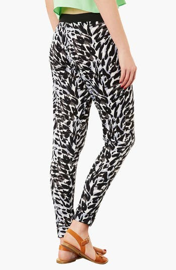 Alternate Image 2  - Topshop Print Tapered Trousers