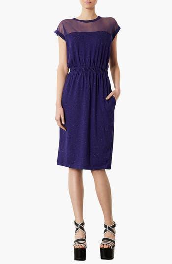 Alternate Image 1 Selected - Topshop Mesh Yoke Midi Dress