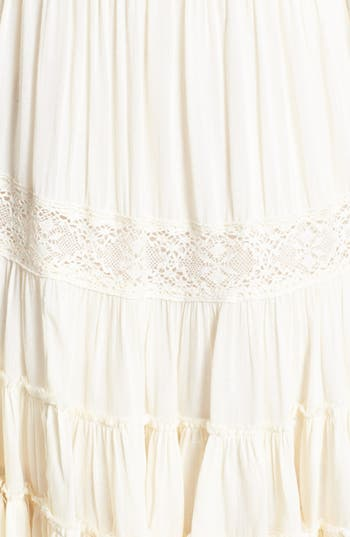Alternate Image 3  - Free People 'Dream Cloud' Lace Trim High/Low Dress
