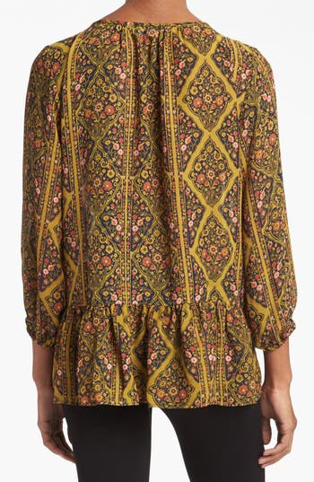 Alternate Image 2  - Like Mynded Floral Print Peasant Top