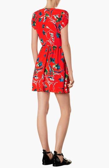 Alternate Image 2  - Topshop Zebra & Floral Print Tea Dress