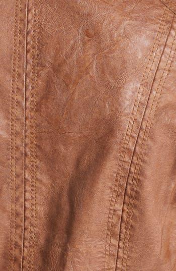 Alternate Image 3  - Jou Jou Faux Leather Bomber Jacket (Juniors)