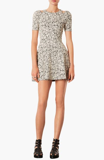 Main Image - Topshop Cutout Jacquard Dress