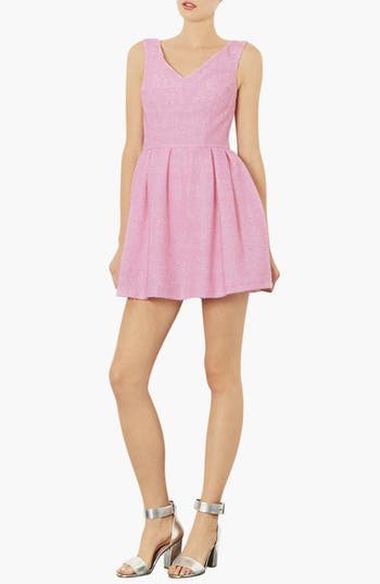 Main Image - Topshop Fluffy Fit & Flare Dress
