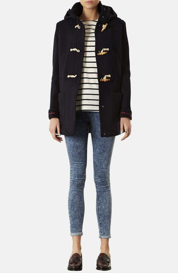 Alternate Image 4  - Topshop Hooded Toggle Duffle Coat