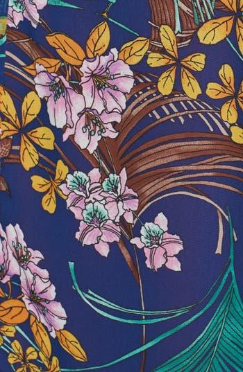 Alternate Image 3  - Hot & Delicious Floral Chiffon Kimono Jacket (Juniors)