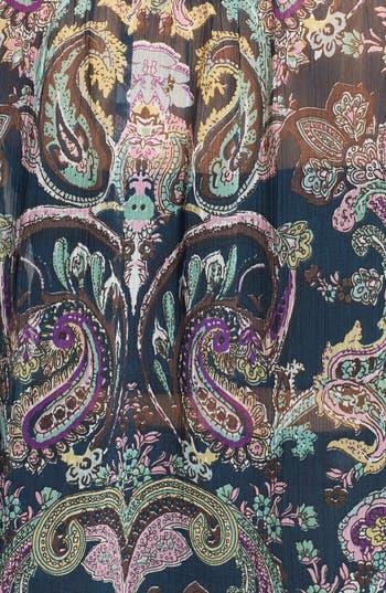 Alternate Image 3  - Band of Gypsies Crochet Trim Print Chiffon Top (Juniors)