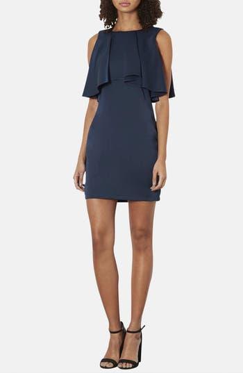 Main Image - Topshop Ruffled Bodice Satin Body-Con Dress