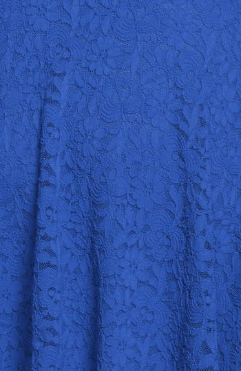 Alternate Image 3  - Everly Lace Scoop Back Skater Dress (Juniors)