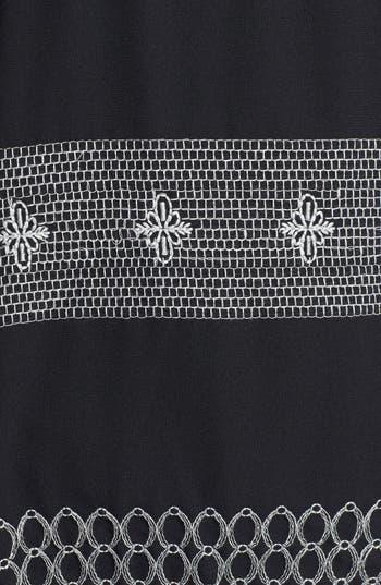 Alternate Image 3  - Bobeau Embroidered Mixed Media Top