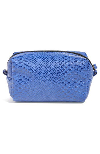 Alternate Image 3  - steph&co. 'Blue Python' Rectangular Cosmetics Case (Nordstrom Exclusive)