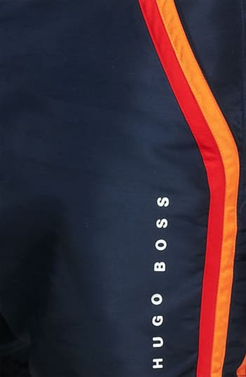 Alternate Image 3  - BOSS HUGO BOSS 'Rainbowfish' Stripe Swim Shorts