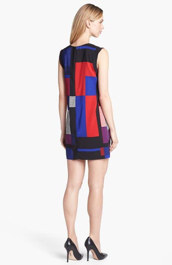 Alternate Image 2  - Vince Camuto Patchwork Colorblock Shift Dress (Online Only)