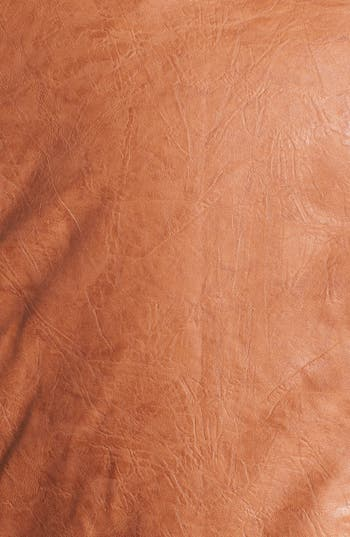 Alternate Image 3  - DKNY Collarless Faux Leather Jacket (Plus Size)