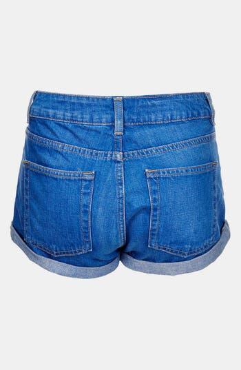 Alternate Image 2  - Topshop Moto 'Polly' Denim Shorts (Petite)