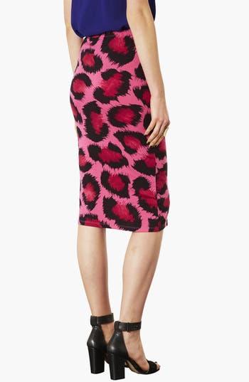 Alternate Image 2  - Topshop Leopard Print Tube Skirt