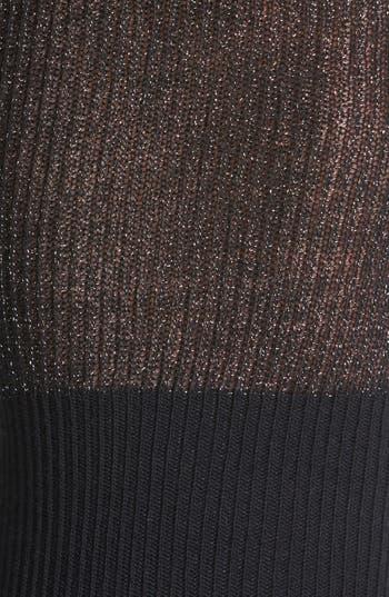 Alternate Image 2  - kensie Metallic Over the Knee Socks