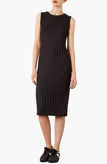 Alternate Image 1 Selected - Topshop Textured Midi Dress