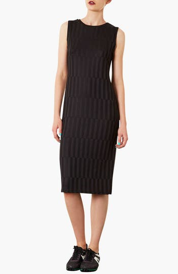 Main Image - Topshop Textured Midi Dress