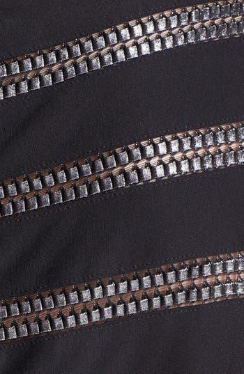 Alternate Image 3  - Tadashi Shoji Foil Banded Fit & Flare Dress (Plus Size)