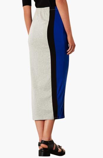 Alternate Image 2  - Topshop Side Stripe Maxi Skirt