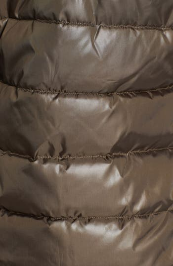 Alternate Image 3  - Circus by Sam Edelman Faux Leather Sleeve Quilted Coat
