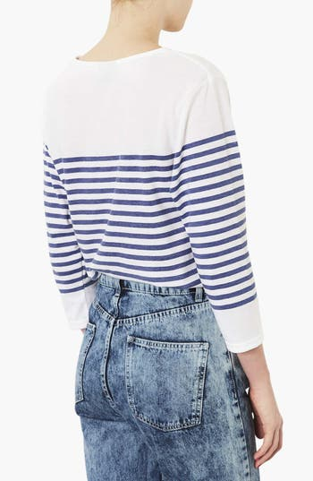 Alternate Image 2  - Topshop Stripe Tee