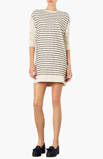 Main Image - Topshop Stripe Sweater Dress