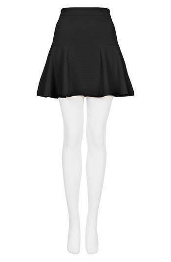 Alternate Image 4  - Topshop Textured Skater Skirt