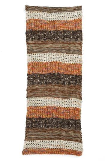 Alternate Image 2  - BP. Stripe Mixed Knit Infinity Scarf (Juniors)