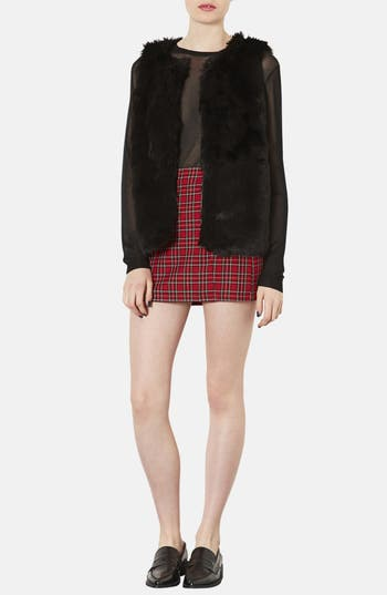 Alternate Image 4  - Topshop Faux Fur Vest