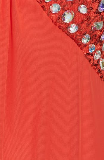 Alternate Image 3  - Hailey Logan Embellished Empire Waist Gown (Juniors) (Online Only)